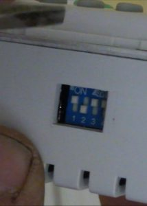 Ceiling fan remote wall dip switch
