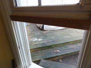 Cat Door Molding Installed on Window Sash