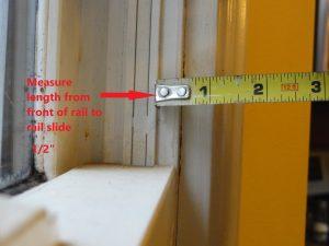 Cat Door Slide Rail Measurement for Rabbet Cut