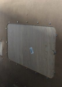 DIY paint booth TV Cabinet Back Sealed 2
