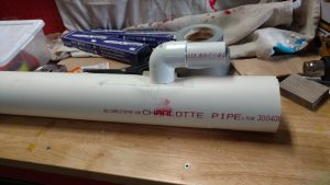 Paint Booth Venturi Exhaust Glued Together