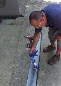 Applying Glue to New Panel