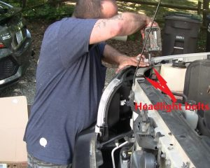 Removing Headlight Bolts