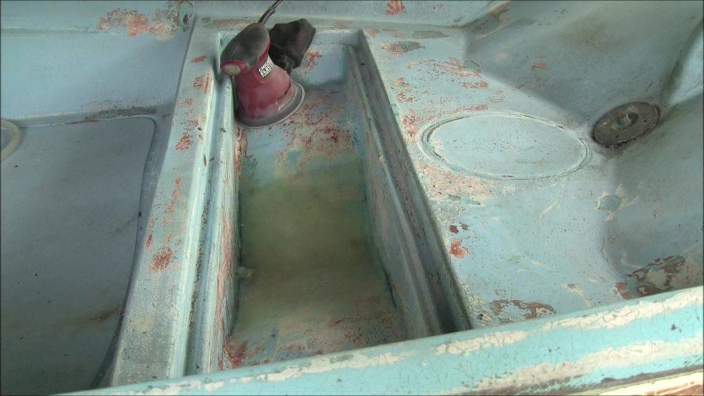 Anchor Locker Hole Fiberglass Patch
