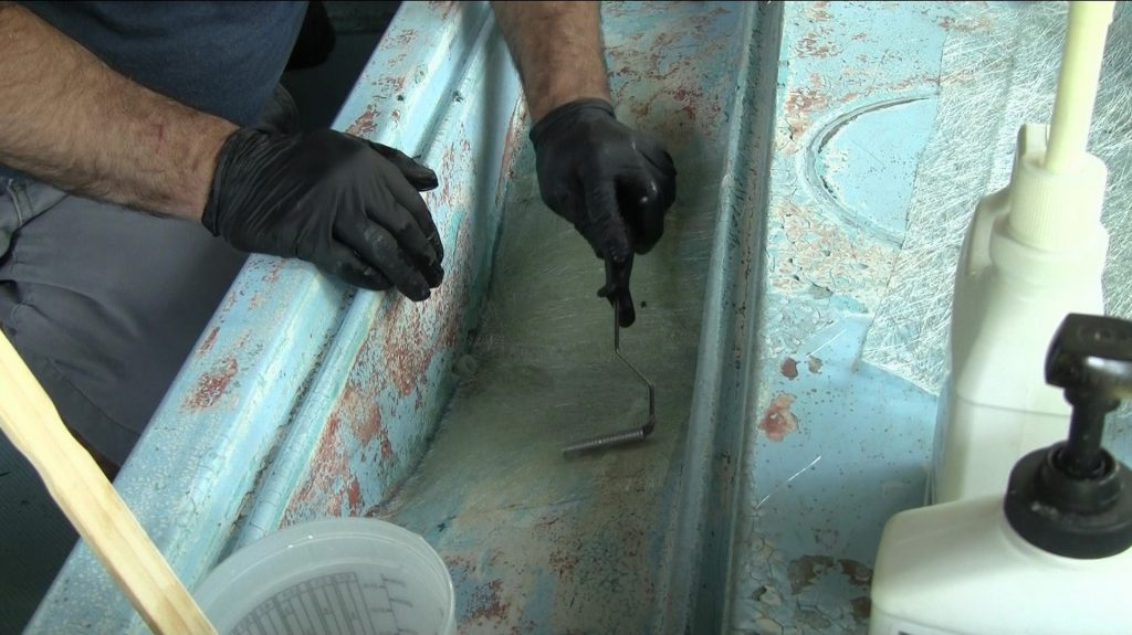 Anchor Locker Hole Fiberglass Repair