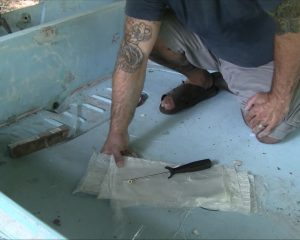 Fiberglass Repair Mats Cut Out and In Order