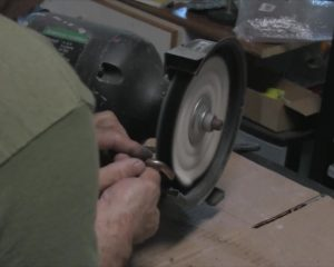 Polishing Brass on Polishing Wheel
