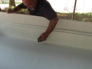 Sanding the Boat Primer