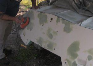 final sanding of fairing compound