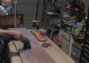 vacuuming mahogany
