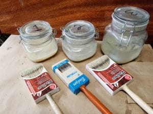 natural bristle brush clean and store