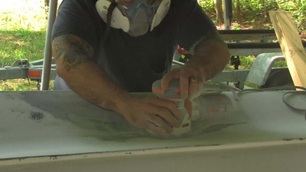 sanding the fairing compound