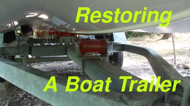 Boat Trailer Restoration Finished