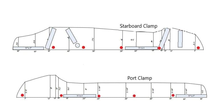 Boston Whaler Interior Clamp hole location