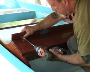 Installing boston whaler super sport storage lid hinge