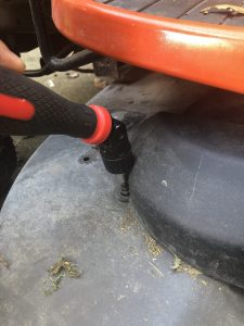 Removing Lawn Tractor Spindle Cover